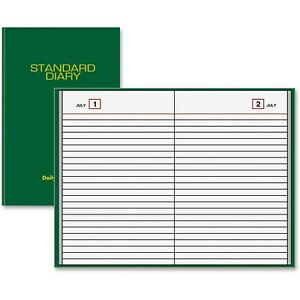 At a glance Standard Diary Undated Daily Reminder 6 X 8 75 X 1 inches Green