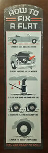 How To Fix A Flat Embossed Metal Sign Car Garage Pub Vintage Style Decor - New