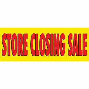 Store Closing Sale Vinyl Banner Sale Sign 3 X 8 For Stores Businesses Yellow