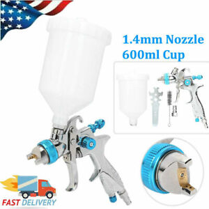 Hvlp Air Spray Gun Kit Auto Paint Car Primer Gravity 1 4mm Nozzle 600ml Cup