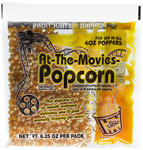 At the movies Popcorn Buttery Salt Seasoning Top Quality Popcorn Kernels 4oz