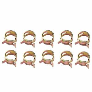 10 Pieces Spring Clip 1 4 Fuel Hose Clamp Fits 1 4 Inch Fuel Line Hose Id 12mm