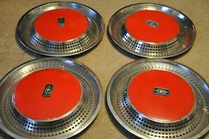 1975 76 Oldsmobile 98 Ninety Eight Regency 15 Wheel Covers Hubcaps Set Of 4