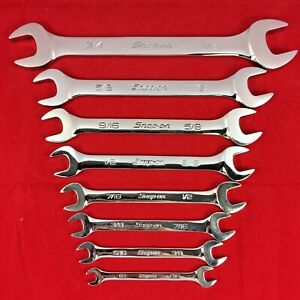 Excellent Snap on 8pc 1 4 7 8 Sae Open End Wrench Set Vo810b vo2428b
