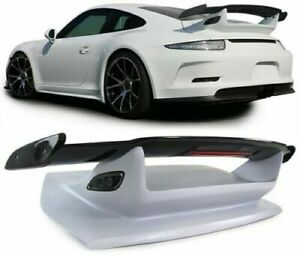 Carbon Rear Wing Gt Spoiler With Bonnet For Porsche 911 991 From 2011