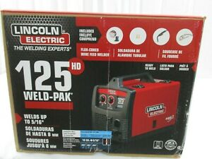 Lincoln Electric K2513 1 Weld Pak 125hd Welds Up To 5 16 Flux Cored Wire Feed