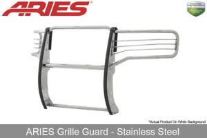 Aries Polished Ss Grille Brush Guard For 2015 2019 Gmc Sierra 2500 3500