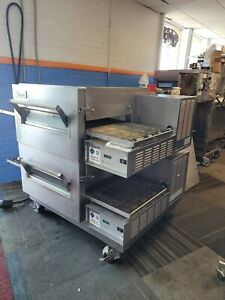 Lincoln 1132 Double Stack Impinger Conveyor Pizza Oven With Stand