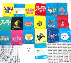 New Variety 3 5g Cookies Mylar Ziplock Bags Smell Proof Labels And Stickers