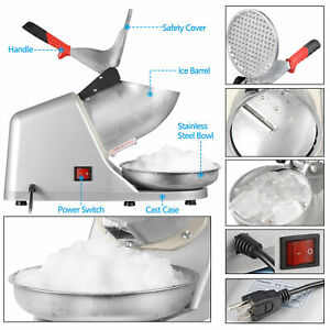 Ice Crusher Shaver Machine Snow Cone Maker Shaved Ice 143 Lbs Enjoy At Home