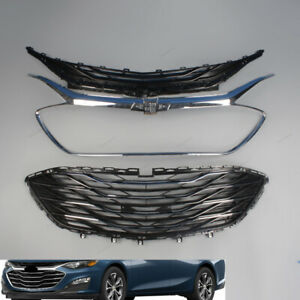 Fit For Chevrolet Malibu 2019 20 Abs Front Upper Lower Bumper Grille Chrome 3pcs