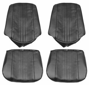 1970 Chevelle El Camino Supersport Front Bucket Seat Covers Black Pui 70as10u