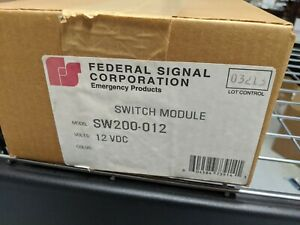 Federal Signal Sw200 012 Light Control Switch Module Box