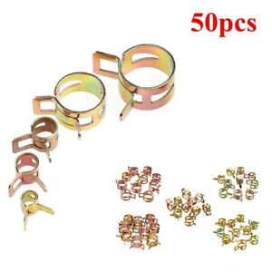 50pcs Spring Clip Water Pipe Fuel Hose Air Tube Clamp Clip Fastener 5 6 7 8 9mm