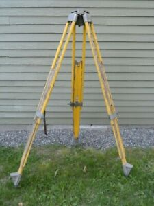 Sokkia Heavy Duty Wood Tripod 4 Surveyor Transit Trimble Topcon Seco Gps Robotic