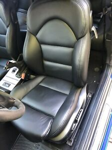 03 Bmw M3 E46 1119 Seat Pair Front Power Heated Sport Black Leather