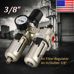 3 8 Air Compressor Filter Oil Water Separator Trap Tool With Regulator Gauge