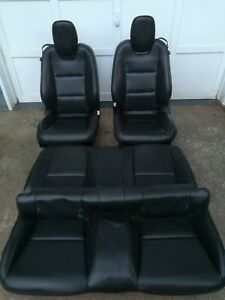 2010 2015 Chevy Camaro Rs Front And Rear Black Leather Seats