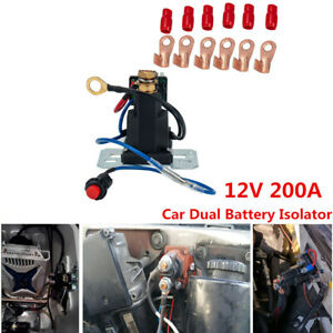 12v 200a Car Suv Dual Battery Isolator Start Battery Switch Controller Relay Kit