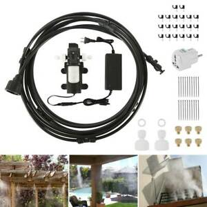 Patio Misting Cool System High Pressure Nozzles Set Booster Pump