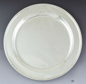 Impressive Antique Tiffany Co Sterling Silver 13 Round Charger Plate Platter