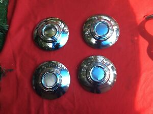 Cadillac Hubcaps 1940 1941 1946 1947 1948 1949 Small Polish Stainless S
