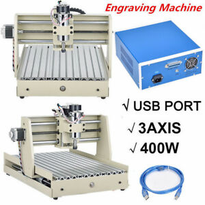 3 Axis 3040 Router Engraver Wood Pcb Engraving Drilling Milling Machine 400w Usb