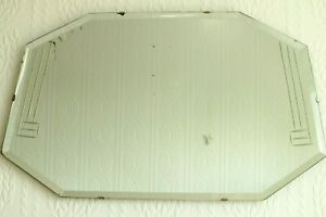 Vintage Bevelled And Cut Glass Wall Hanging Art Deco Mirror