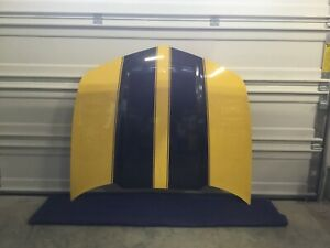 2010 2015 Camaro Ss Hood Yellow With Black Stripes From 2010 Camaro Ss
