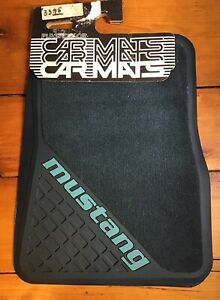 New Old Stock Plasticolor 1206 Mustang Car Floor Mats 80 Up Twin Front Blue