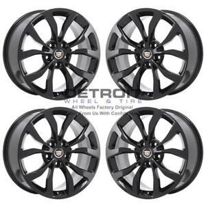 18 Cadillac Ats Gloss Black Exchange Wheels Rims Factory Oem 4704 2013 2019