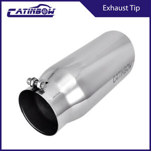 Diesel Stainless Steel Bolt On Exhaust Tip Pipe 4 Inlet 5 Outlet 12 Long