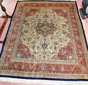 Authentic Handmade Traditional Wool Carpet Area Rug Persian 8 X 9 9