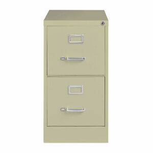 Hirsh Industries 26 1 2 Deep Vertical File Cabinet 2 drawer Letter Size Putty