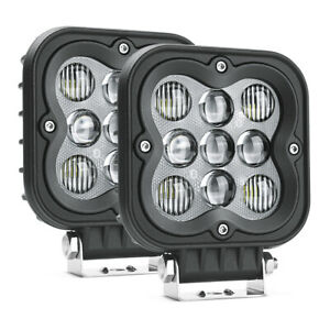 Mictuning 2x Ws 4 4 Square Led Pods Light Bar 27w Off Road Fog Combo Work Lamp