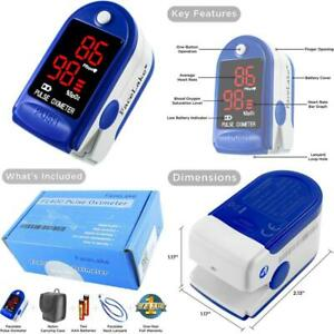 Facelake Fl400 Pulse Oximeter With Carrying Case Batteries Neck wrist Cord