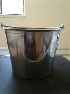 Stainless Steel Milking Pail With Lid