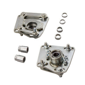 Adjustable Coil Silver Front Camber Plates For Ford Mustang V6 V8 Gt 1994 2004