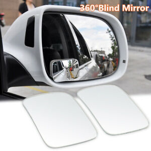 1pair 360 Universal Blind Spot Mirror Wide Angle Convex Rear Side For Car Truck