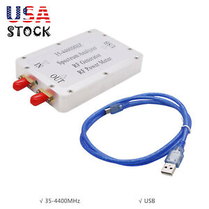 Usb Simple Spectrum Analyzer 35 4400mhz Rf Signal Generator Rf Power Meter Us