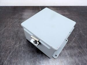 Hoffman Electrical Enclosure A606ch 6 x6 x4 Cutout Box Connection Box Type 12 1