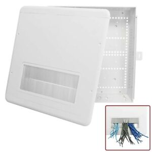 15 Plastic Electronic Project Box Enclosure Case Brush Cover Cable Pass Through