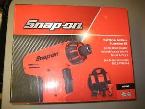 Snap On Cts5960 9 6v Ni Cad Cordless Screwdriver Kit New W Accessories