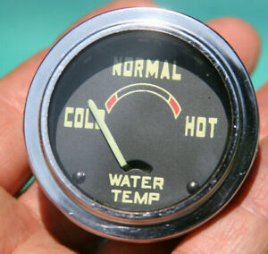 54 59 Gmc Truck Electric Vintage Water Temperature Gauge Cold Normal Hot