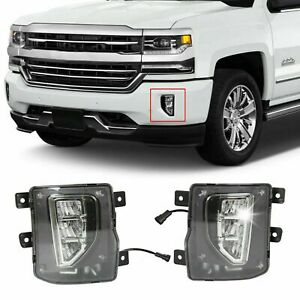 For 2016 2018 Chevy Silverado 1500 Led Fog Lights Driving Bumper Lamps W switch