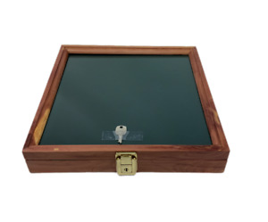 Cedar Wood Display Case 12 X 12 X 2 For Arrowheads Knifes Collectibles More