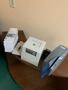 Pyramid Auto Totaling Time Card Punch Clock 4000 Pro Usa Made