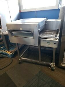 Lincoln 1132 Electric Conveyor Pizza Sandwich Fry Convection Oven On Stand