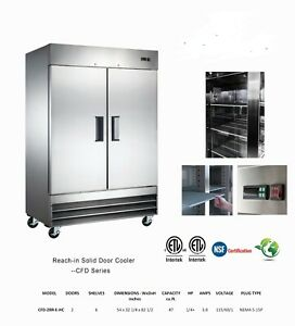 New Two Door Freezer now In Stock Stainless Commercial Nsf Reach in Nib Gre
