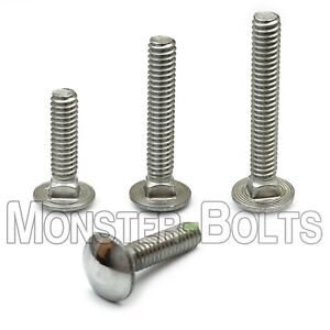 1 4 20 Stainless Steel Carriage Bolts Square Neck A2 18 8 Aka Shaker Screen